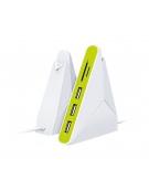 OMEGA USB 2.0 COMBO HUB 3 ΘΥΡΕΣ + CARD READER microSDHC&SDHC ΛΕΥΚΟ